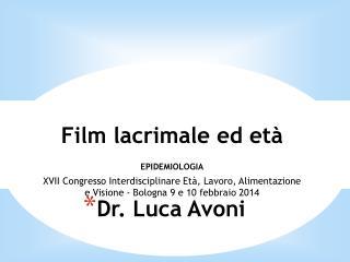 Dr. Luca Avoni