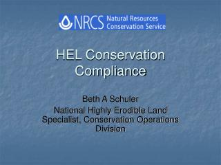 HEL Conservation Compliance