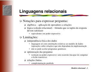 Linguagens relacionais