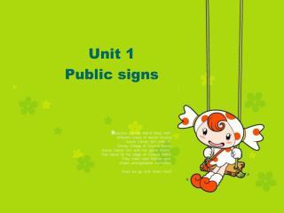 Unit 1 Public signs