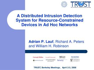 A Distributed Intrusion Detection System for Resource-Constrained Devices in Ad Hoc Networks