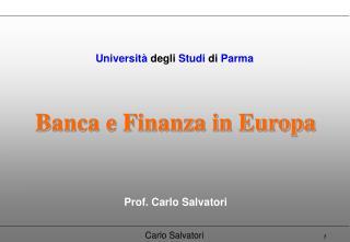 Banca e Finanza in Europa