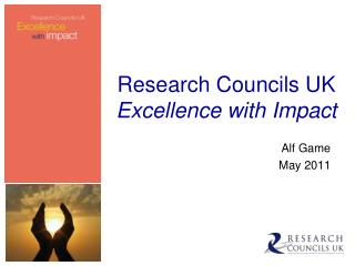 Research Councils UK  Excellence with Impact
