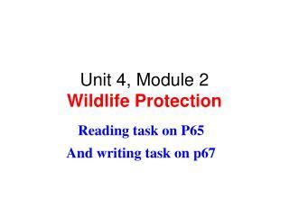 Unit 4, Module 2 Wildlife Protection