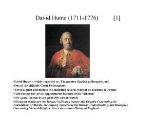David Hume 1711-1776          [1]