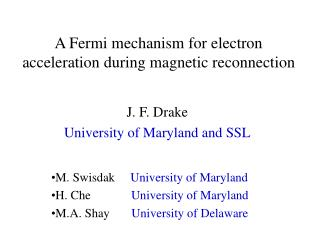 A Fermi mechanism for electron acceleration during magnetic reconnection