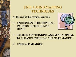 UNIT 4 MIND MAPPING TECHNIQUES