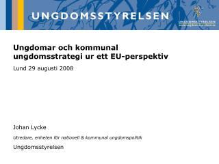 Ungdomar och kommunal ungdomsstrategi ur ett EU-perspektiv