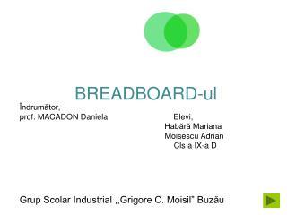 """Grup Scolar Industrial ,,Grigore C. Moisil"""" Buzău"""