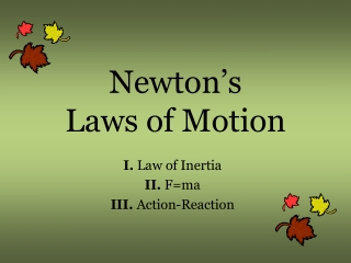 Motion on a Smooth Inclined Plane