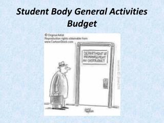 Student Body General Activities Budget