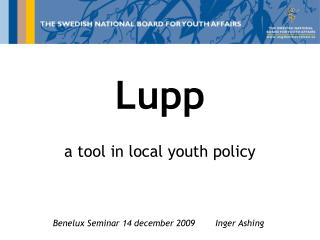 Lupp a tool in local youth policy
