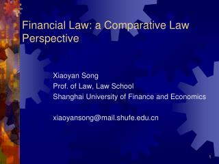 Financial Law: a Comparative Law Perspective