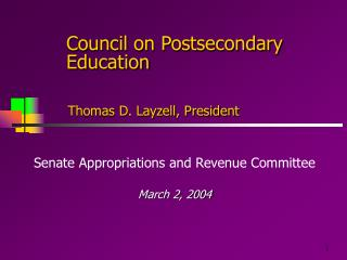 Council on Postsecondary Education
