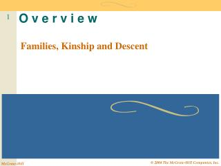 Families, Kinship and Descent
