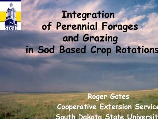 Integration  of Perennial Forages and Grazing  in Sod Based Crop Rotations