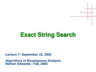 Exact String Search