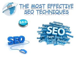 The Most Effective SEO Techniques