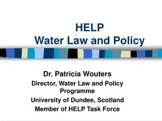 HELP Water Law and Policy