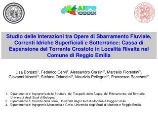 Lisa Borgatti 1 , Federico Cervi 2 , Alessandro Corsini 2 , Marcello Fiorentini 3 ,