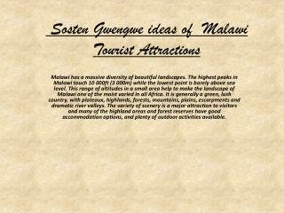 Sosten Gwengwe ideas of Malawi Tourist Attraction