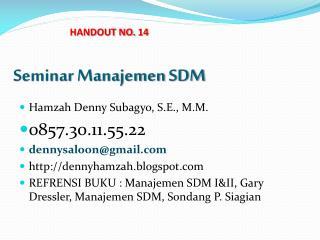 Seminar  Manajemen  SDM