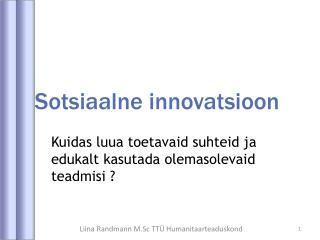 Sotsiaalne innovatsioon