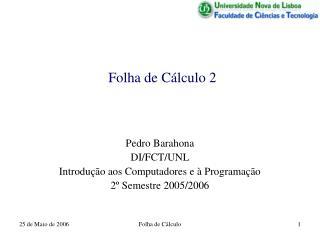 Folha de Cálculo 2