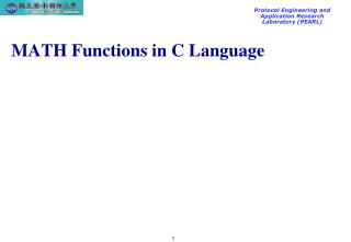 MATH Functions in C Language