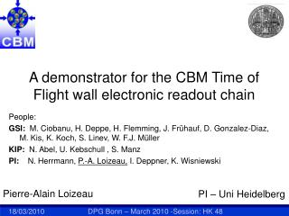 A demonstrator for the CBM Time of Flight wall electronic readout chain