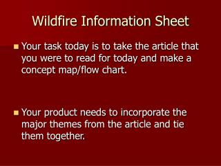 Wildfire Information Sheet
