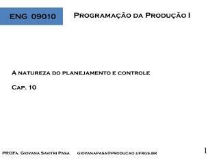 Programação da Produção I