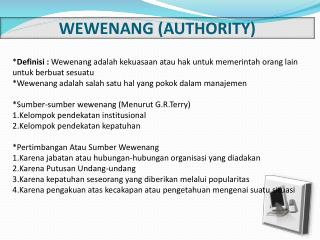 WEWENANG (AUTHORITY)