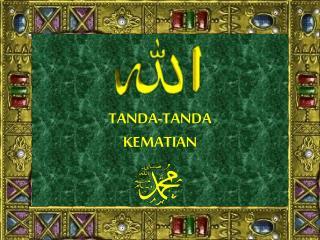 TANDA-TANDA KEMATIAN