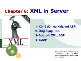 Chapter 6: XML in Server