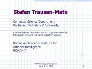 Stefan Trausan-Matu