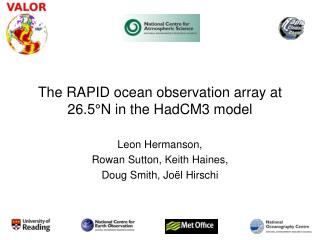 The RAPID ocean observation array at 26.5°N in the HadCM3 model