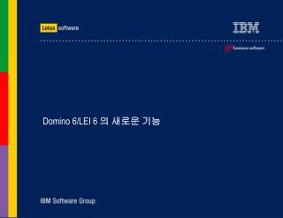 Domino 6/LEI 6  의 새로운 기능