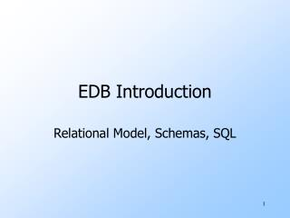 EDB Introduction