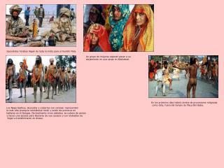 Sacerdotes hindúes llegan de toda la India para el Kumbh Mela.