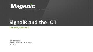 SignalR  and the IOT