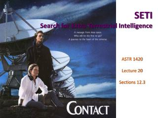 SETI Search for Extra Terrestrial Intelligence