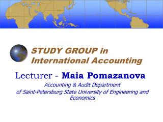 STUDY GROUP in International Accounting
