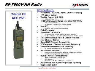 RF-7800V-HH Radio