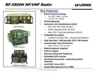 RF-5800H HF/VHF Radio