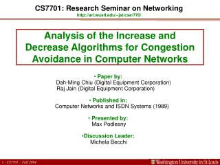 Analysis of the Increase and Decrease Algorithms for Congestion Avoidance in Computer Networks