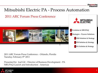 Mitsubishi Electric PA - Process Automation