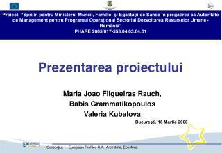 Prezentarea proiectului