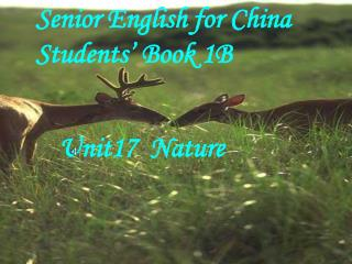 Senior English for China Students' Book 1B