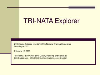 TRI-NATA Explorer